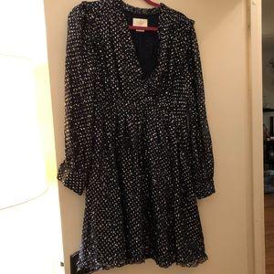 Kate Spade night sky dot mini dress
